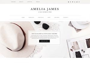 amelia best feminine wordpress themes